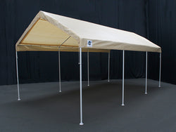 "King Canopy A-Frame Universal Canopy - 10' x 20' x 9'9"" - 8 Legs - Fitted Cover w/ Drawstring - Tan"