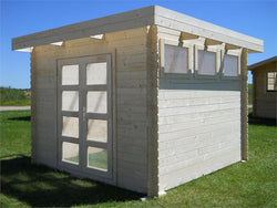 Moderna 10 x 10 Wood Storage Shed Kit