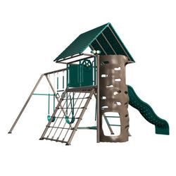 Lifetime A-Frame Playset/Clubhouse & Swingset (Earth Tones)