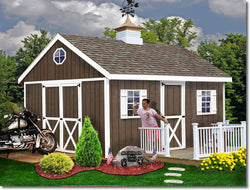 Best Barns Easton 12' Wood Storage Shed Kit