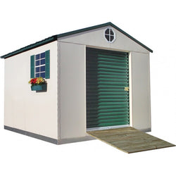 10'x11' Steel Weatherproof Storage Building w/ Foundation Kit