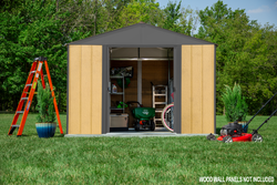Arrow Ironwood Steel Hybrid Shed Kit 10 ft. x 8 ft. Galvanized  - 2 Colors Available
