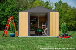 Arrow Ironwood Steel Hybrid Shed Kit 8 x 8 ft. Galvanized - 2 Colors Available
