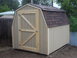 8' x 10' Barn Style Wood Shed Kit