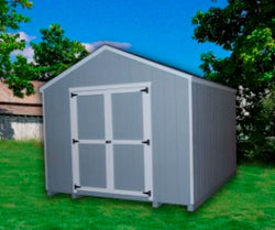 Value Gable Wood Storage Shed Kit by Little Cottage - Prebuilt (no Floor)