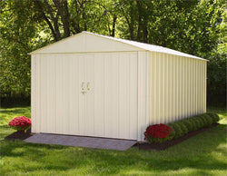 Arrow Commander Eggshell Steel Storage Building  - 4 Sizes Available