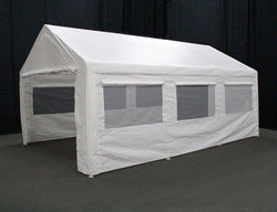 King Canopy 12 x 20 Side Wall Kit with 2 Zippered Ends, 2 Sides w/Flaps & Bug Screen Windows, 50 Ball Bungees