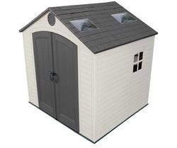 Lifetime 8 x 7.5 Premium Plastic Storage Shed Kit w/ Large Skylights