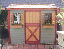 Cabana Cedar Wood Shed Kit - 4 Sizes Available