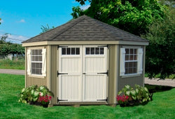 "Little Cottage Colonial Five Corner Shed ""Panelized Kit (wood) no floor"""