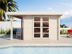 Moderna 1 x 10 Wood Storage Shed or Pool House