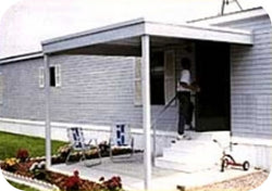 Arrow Attached Patio Cover/Carport, 10x10, Hot Dipped Galvanized Steel with Vinyl Coating, Eggshell Finish, Flat Roof