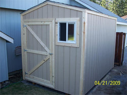 8' x 12' Gable Style Wood Shed Kit