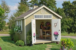 Little Cottage Williamsburg Colonial Garden Shed Panelzed (wood) no floor