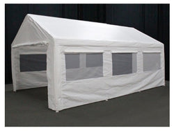 King Canopy 10 x 20 Side Wall Kit with 2 Zippered Ends, 2 Side Walls w/Flaps & Bug Screen Windows, 50 Ball Bungees