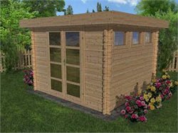Moderna 10 x 10 Wood Storage Shed Kit - from Solid Build