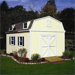 Sequoia Barn-Style Wood Storage Shed Kit with Floor - 4 Sizes