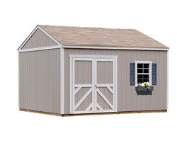 Handy Home Products Columbia 12'W x 12'D Premier Wood Storage Shed Kit