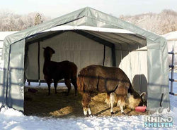 Rhino Horse/Livestock Run In Shelter House 12'Wx20'Lx8'H
