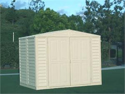 Duramax Duramate 8x5.5 Vinyl Storage Shed (w/ Foundation Kit)