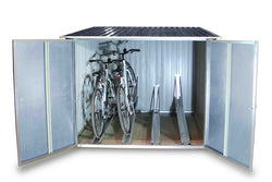 Duramax Bicycle Storage Shed Anthracite w/ White Trim