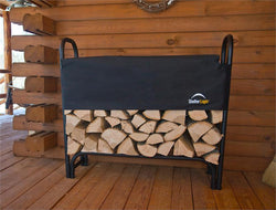 4' Firewood Rack with Cover