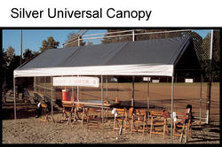 "King Canopy A-Frame Universal Canopy -10' x 20' x 9'9"" - 8 Legs - Fitted Cover w/ Drawstring - Silver"