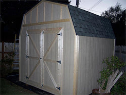 10' x 10' Barn Style Wood Storage Shed Kit