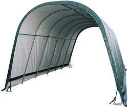 Shelterlogic 12' x 24' Round Style Run-In Shelter, Green Cover