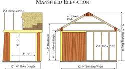 Mansfield 12 x 12 Wood Storage Shed Kit