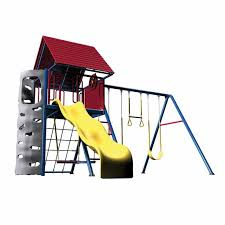 Lifetime A-Frame Playset/Clubhouse & Swingset (Primary Colors)