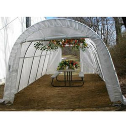 Rhino Instant Greenhouse Round 12'Wx20'Lx8'H (Translucent)