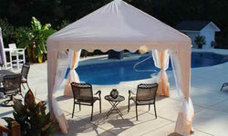 King Canopy 10 ft. Square Gazebo Cover with Netting