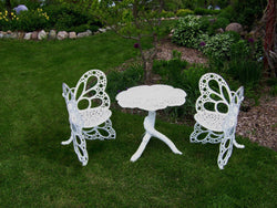 Flowerhouse Butterfly Bistro Set (Table and two Chairs)