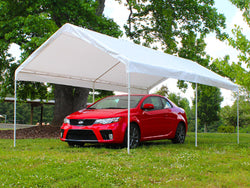 "King Canopy A-Frame Compact Universal Canopy - 10' x 20' x 8'11"" - 6 Legs - 180 g/m2 Fitted Cover w/ Drawstring-3 Colors Available"