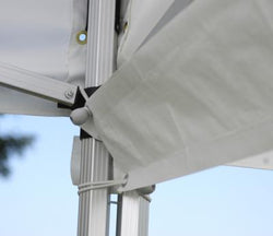 King Canopy 10' Rain Gutter- White PE with Ball Bungees