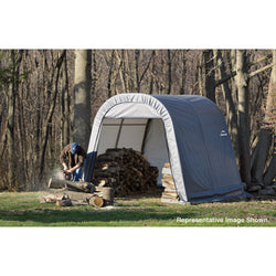 ShelterLogic Round Top Shelter 10x8x8 - 2 Colors Available