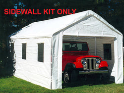 King Canopy 10 x 20 Side Wall Kit : 2 Zippered Ends 2 Side Walls w/Windows, 50 Ball Bungees