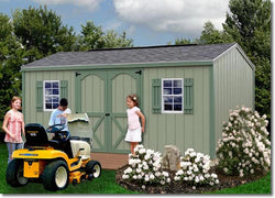 Cypress 10' Wood Storage Shed Kit