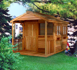 Gable Porch Cedar Wood Clubhouse