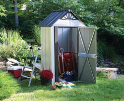 Arrow 4x4 Designer™ Metro Steel Shed Kit w/ Flooring