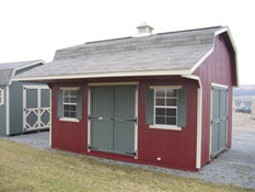 Classic Small Barn Shed Kit with Overhang