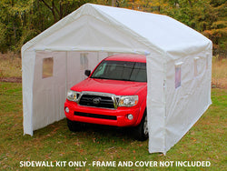 King Canopy 10 x 13 Sidewall Kit Plain - 2 Zippered End walls and Bungees - Fits C81013PC