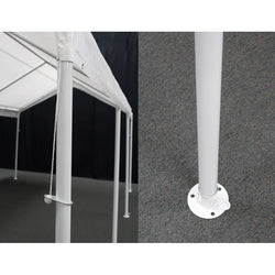 "King Canopy A-Frame Hercules Canopy - 18' x 27' x 11'6"" - 10 Legs - 180g/m2 Fitted Cover w/ Drawstring - White"