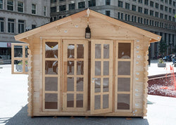 Brightoln 10 x 10 Wood Garden Shed