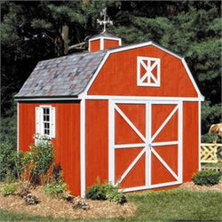 Berkley Barn-Style Wood Shed w/ Floor - 4 sizes available