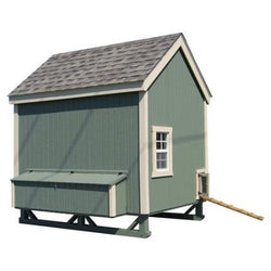 Little Cottage Colonial Chicken Coop with Wheels Panelized Kit w/floor - 4L x 6W ft.