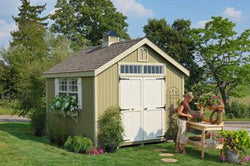 Little Cottage Williamsburg Colonial Garden Shed Panelized (wood) no floor