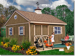 New Castle 12 x 16 Wood Storage Shed Kit