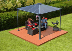 Lightweight Gray & Bronze Gazebo and Patio Cover Kit (2 Sizes)